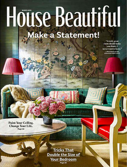 House Beautiful March 2019 cover jewel tones 2019 Design Trends
