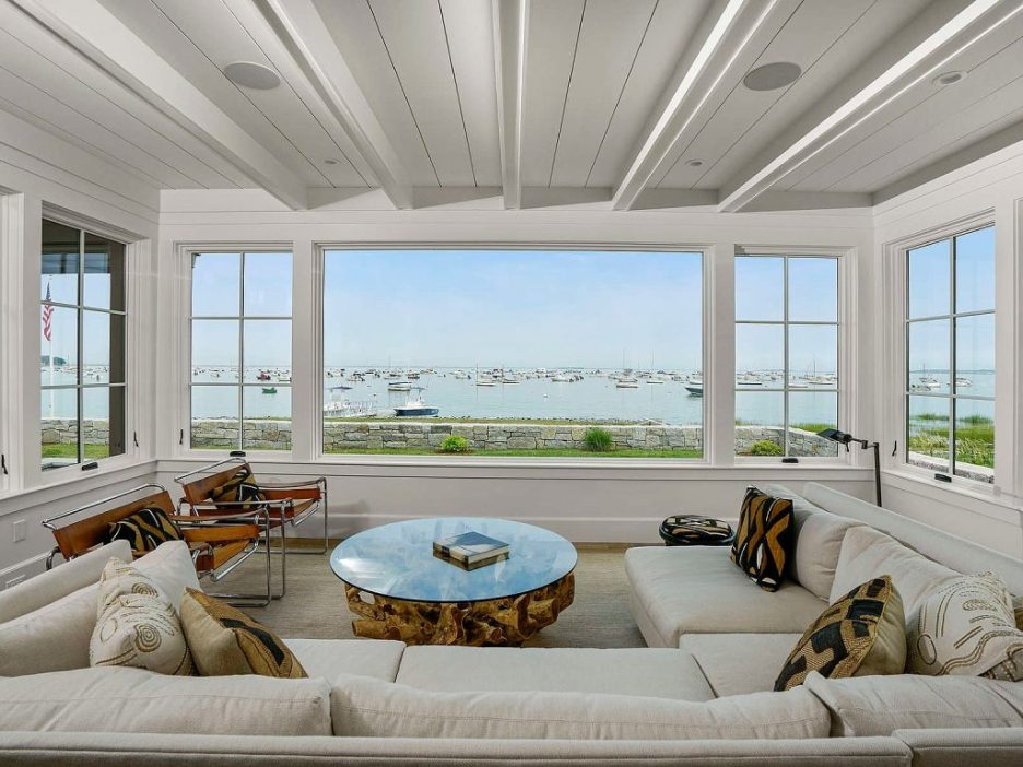 46 Winsor Street Duxbury Bay Ocean view sitting room shiplap Duxbury Bay Home