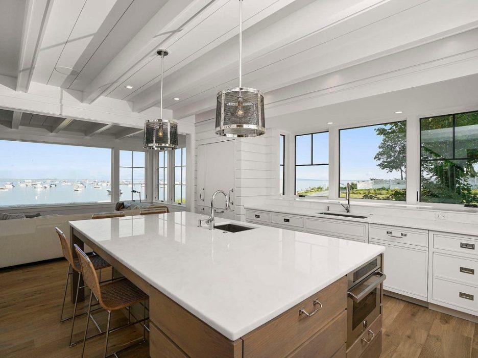 46 Winsor Street Duxbury Bay Ocean view white kitchen 1 Duxbury Bay Home