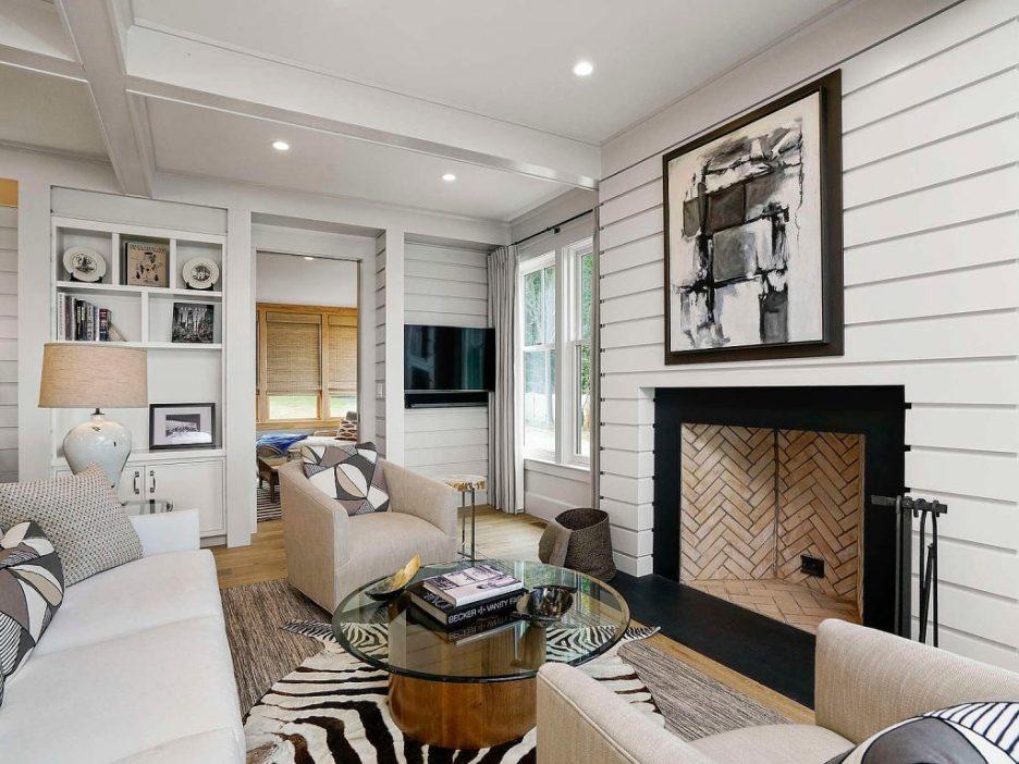 46 Winsor Street Duxbury Bay Ocean view living room shiplap 1 Duxbury Bay Home
