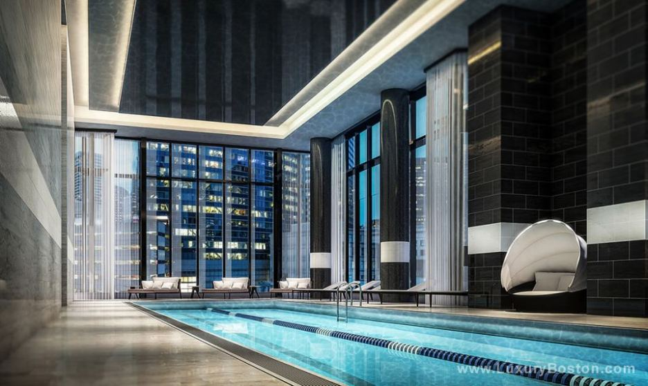 Millenium Tower pool building in the city