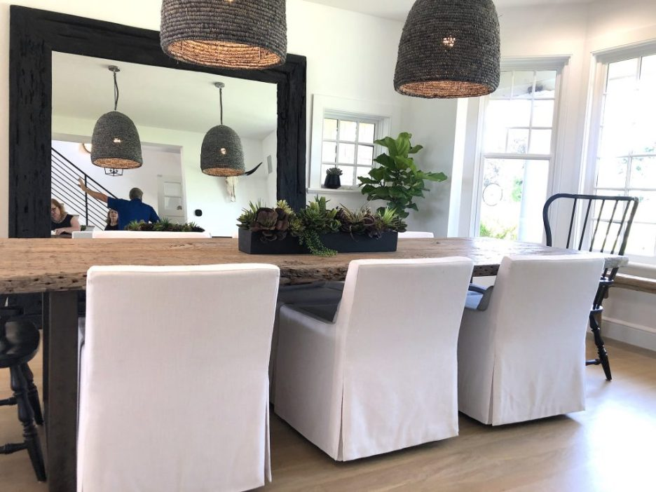 163 High Rd Newburyport Kitchen Tour 2019 Modern Black and White Dining Room 1 LMM