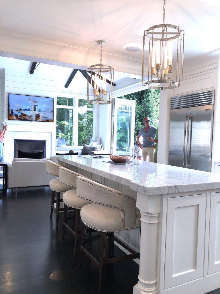 8 Wilshire Rd Newburyport Kitchen Tour 2019 Modern Black and White Kitchen to sitting area LMM