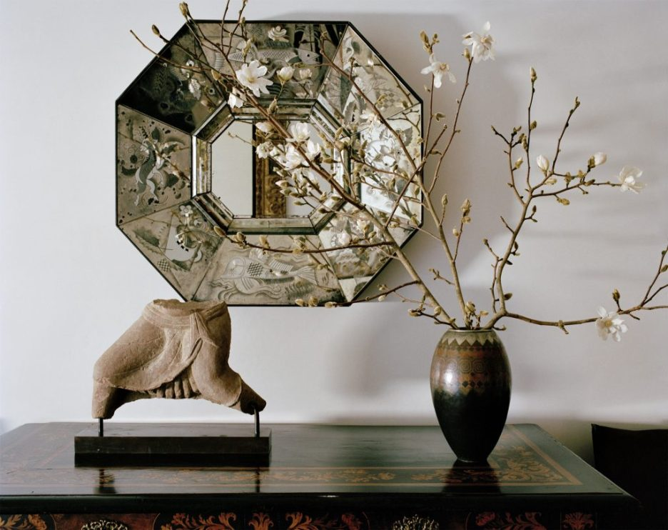 Houses Atelier AM vignette with mirror Spring 2019 Design Books