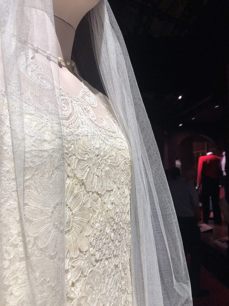 Lady Edith 2nd Wedding Dress bodice detail Downton Abbey Exhibition 7262
