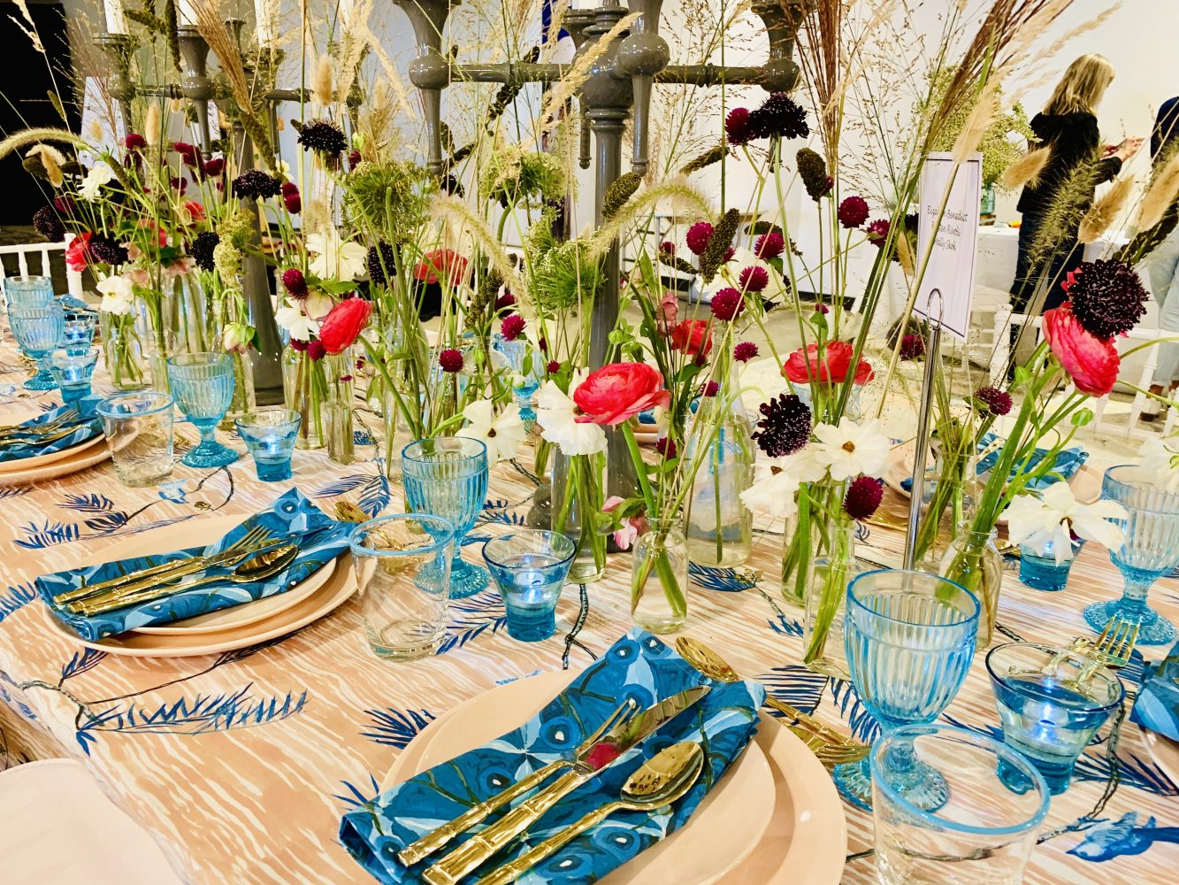 Designer Founders Table Heading Home to Dinner 2019 tablescape closeup with flowers