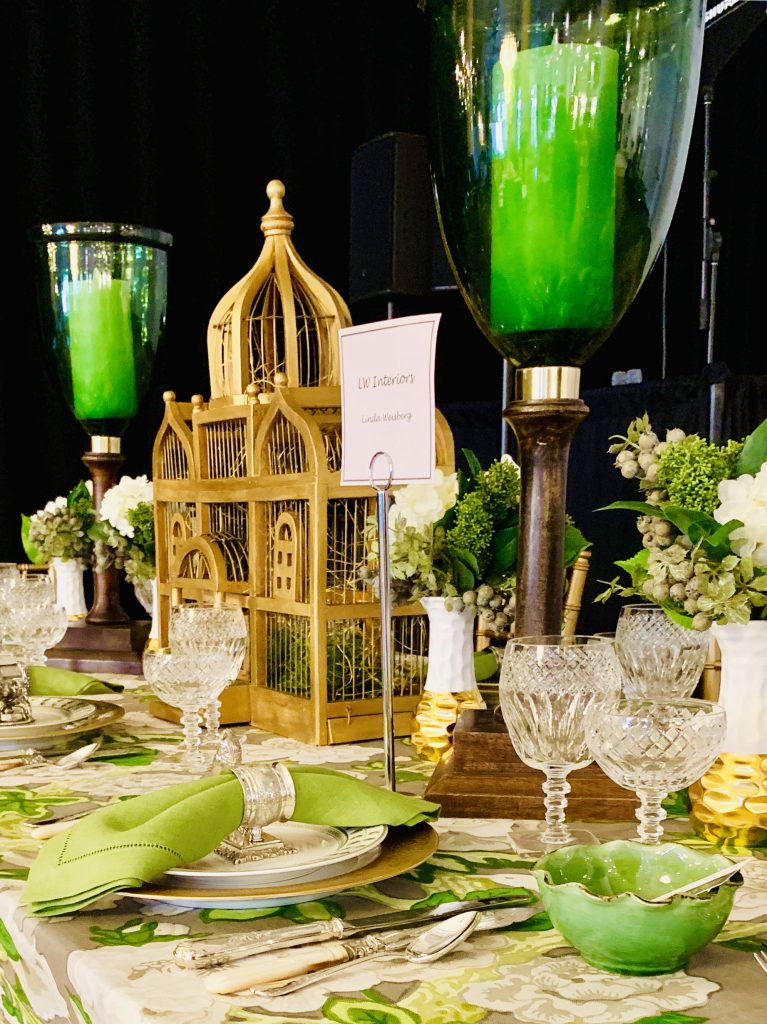 Designer Linda Weisberg Heading Home to Dinner 2019 birdcage beautiful tablescapes