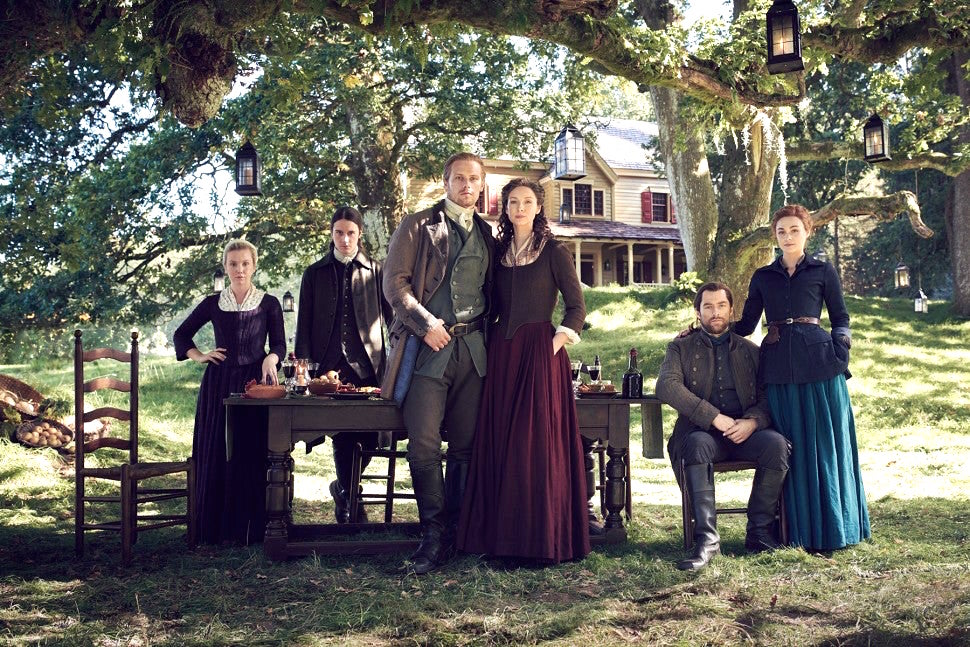 Starz Outlander The Ridge Big House cast Marsali Fergus Jamie Claire Roger Bree season 5