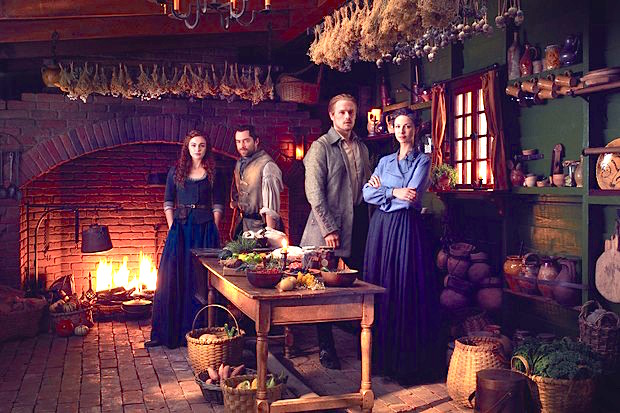 Starz Outlander season 5 Jamie Claire Bree Roger kitchen Starz Outlander The Ridge
