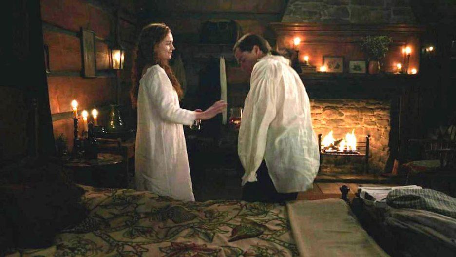 Starz Outlander The ridge Brianna Roger cabin wedding night outlander-online season 5