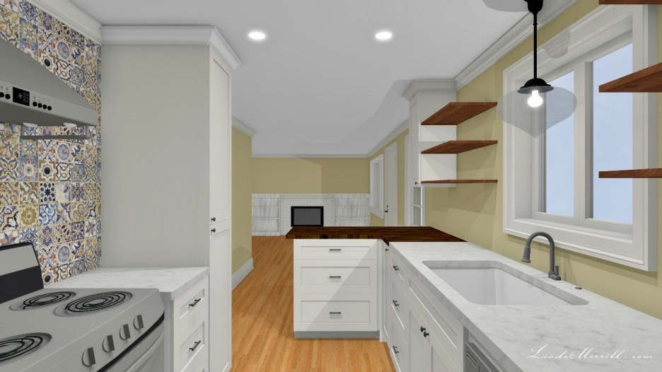 Linda Merrill Small Kitchen 1