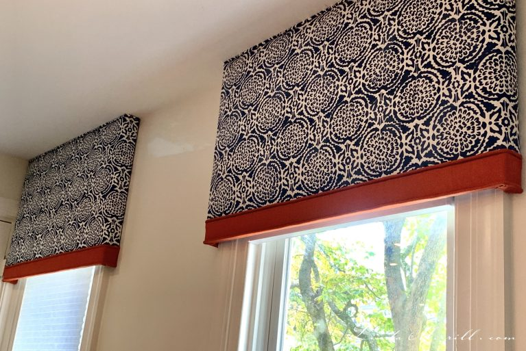 2 Linda Merrill design window treatment cornice board Boston MA challenging spaces