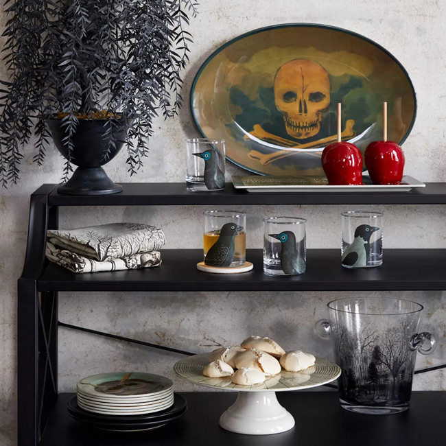 John Derian Halloween for Target glassware