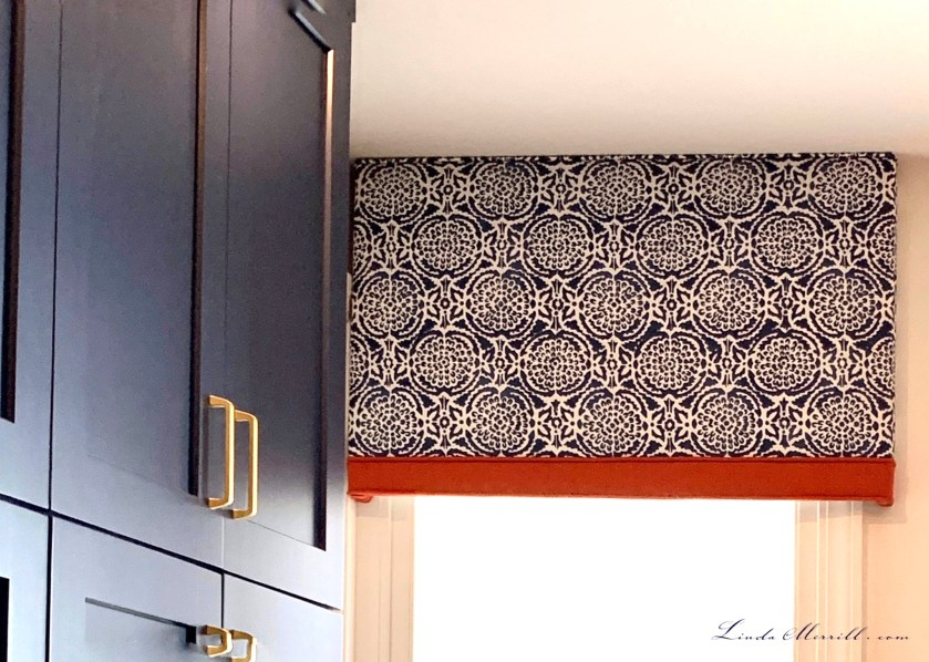 Linda Merrill design window treatment cornice board Boston MA challenging spaces