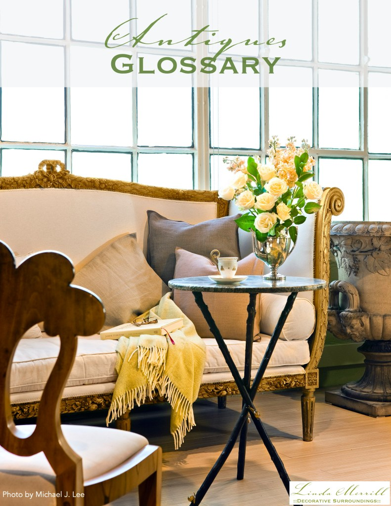 Antiques Glossary