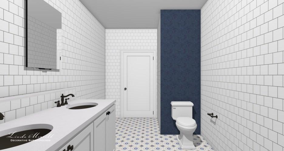 052821 Guest bath shower out Linda Merrill dream home final layout 2021