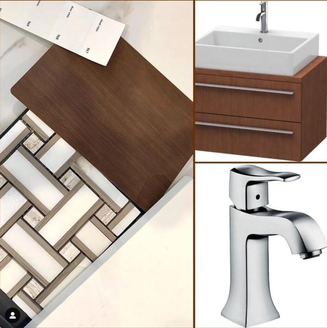 Linda Merrill Decorative Surroundings Mid-century deck house bathroom finishes