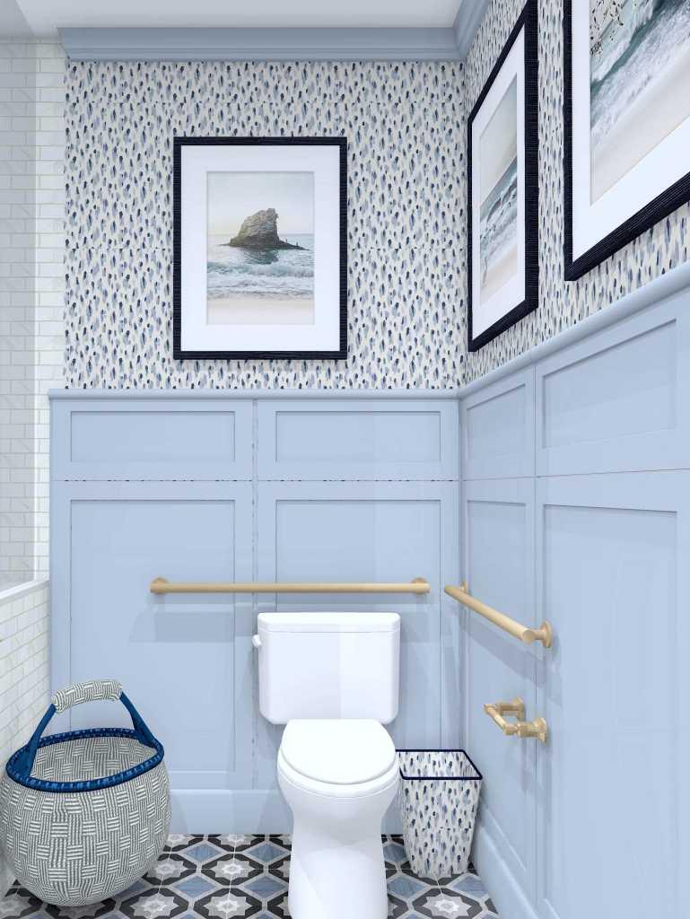 Linda Merrill Decorative Surroundings Dream Home 2021 ADA Universal and Accessible Guest Bath 3 toilet