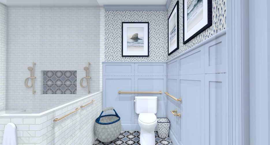 Linda Merrill Decorative Surroundings Dream Home 2021 ADA Universal and Accessible Guest Bath 3