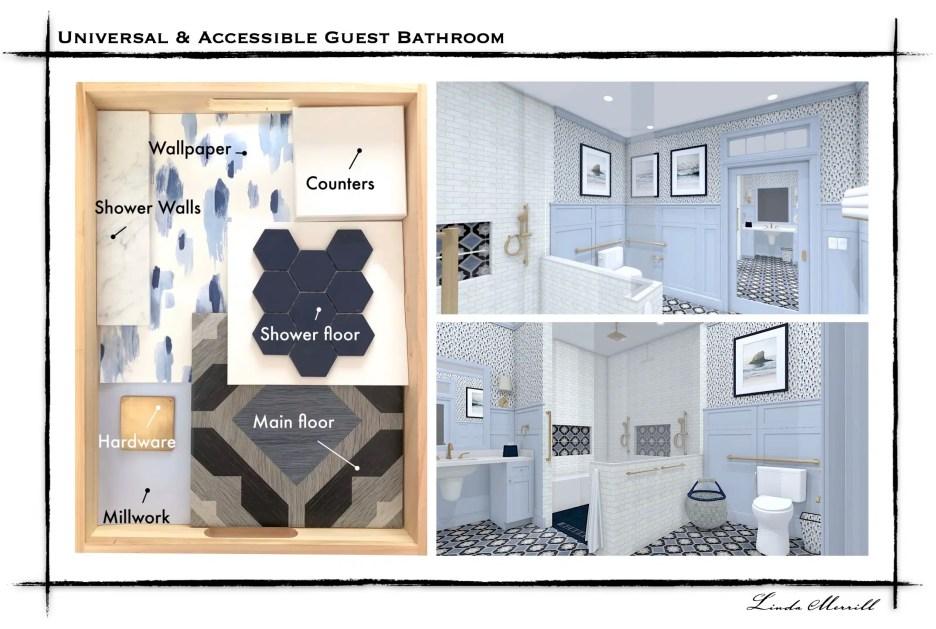 Linda Merrill Dream Home 2021 Webpage graphics ADA Guest Bathroom