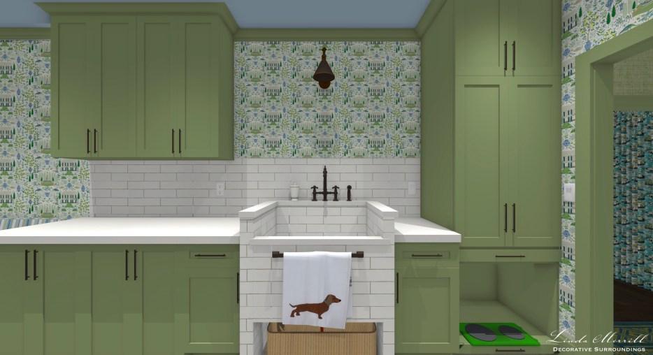 Linda Merrill Decorative Surroundings Dream Home 2021 Sink wall wide Mudroom laundry