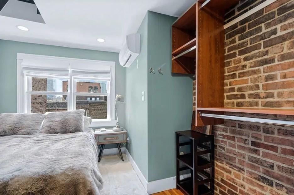 44 Hull St Boston Skinny House Spite House bedroom closet system 3rd floor