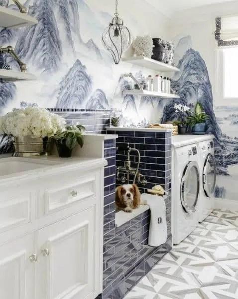 Dina Bandman Interiors dog washing station dinabandman.com mudroom pantry