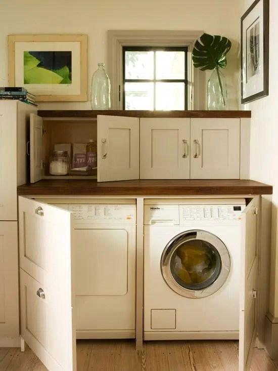Hidden laundry mudroom