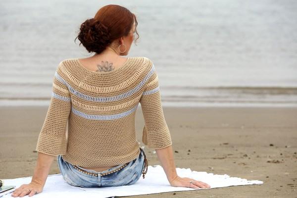 Linda Modderman Haakpatroon Sandy Beach Sweater