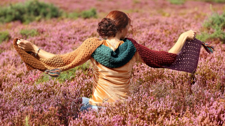 Autumn Color Shawl Herfst Sjaal Linda Modderman Design Haakpatroon