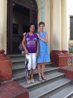 Felix's sister Maria Antonio outside her school.