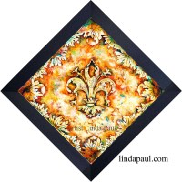 Fleur de Lis Decorative Ceramic Tile Art - Backsplash Wall ...