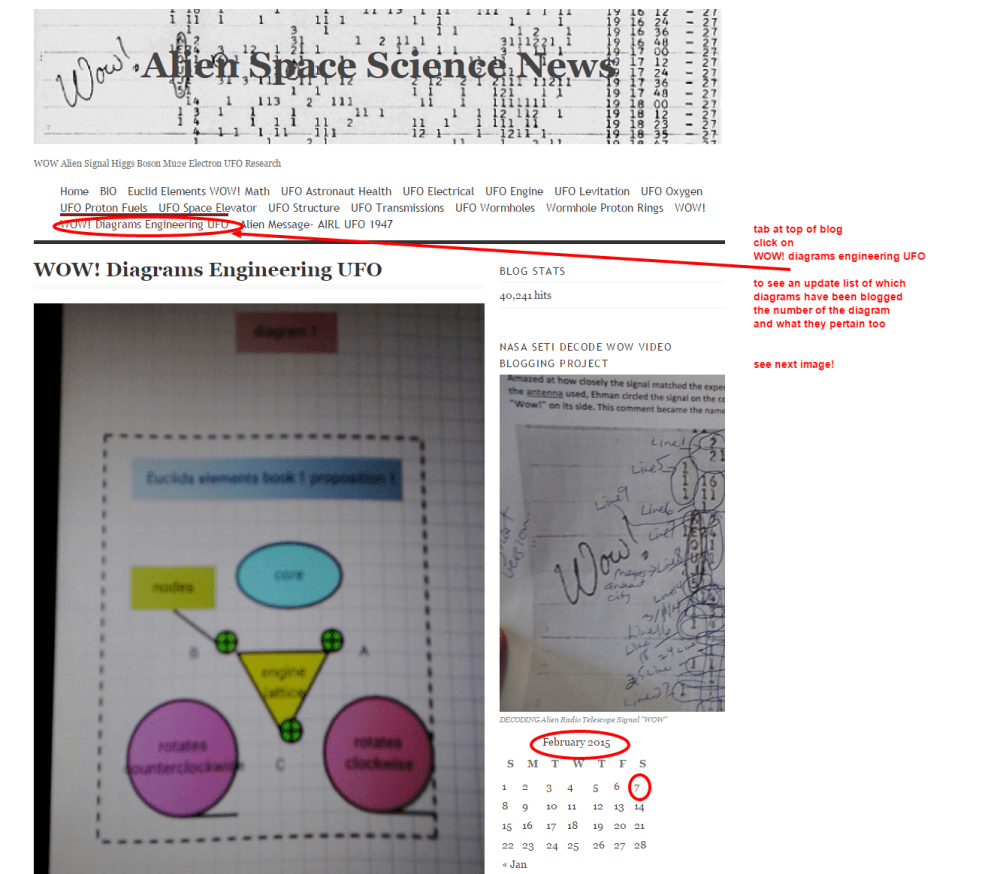 medium resolution of wow diagrams engineering ufo alien space science news wordpress tab to find diagram index and dates