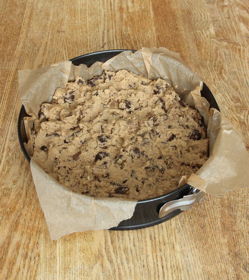 amerikansk cookie med choklad