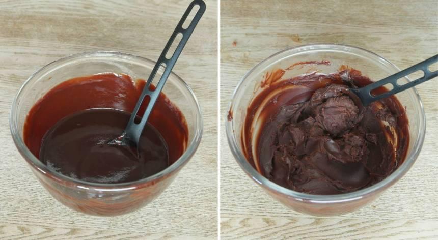 4. Blanda ihop allt till en chokladkräm. Ställ den i kylen för att stelna.
