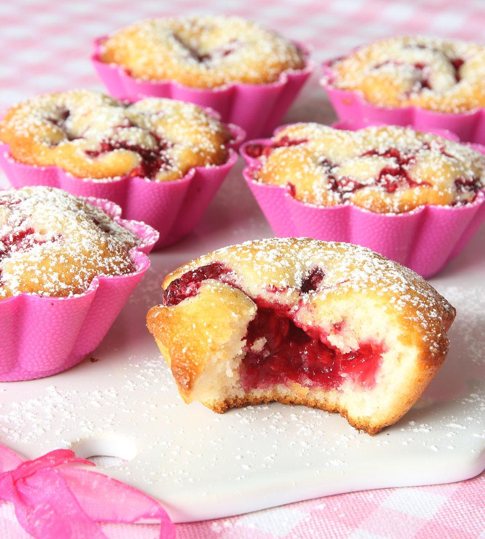 recept muffins hallon
