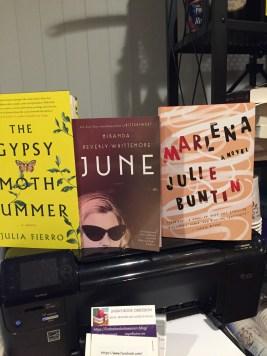 The Gypsy Moth Summer by Julia Fierro, June by Miranda Beverly-Whitemore, Marlena by Julie Buntin