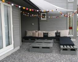 palle møbler ferdig med lyslenker cotton og solseil