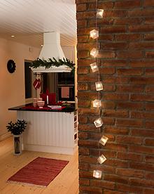 julelyslenke kuber med stjerneeffekt konstsmide