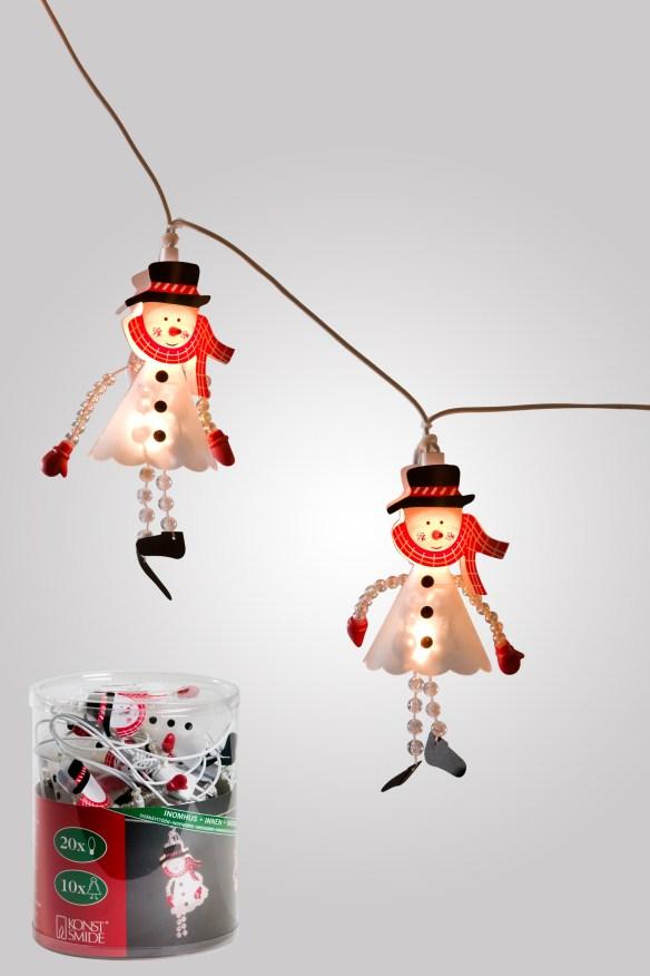 lyslenke snømann konstsmide