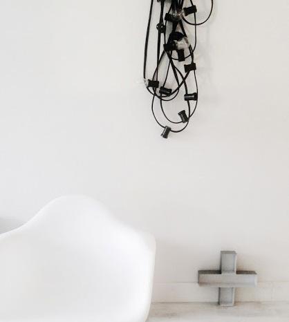 Lyslenke innendørs hvitt interiør