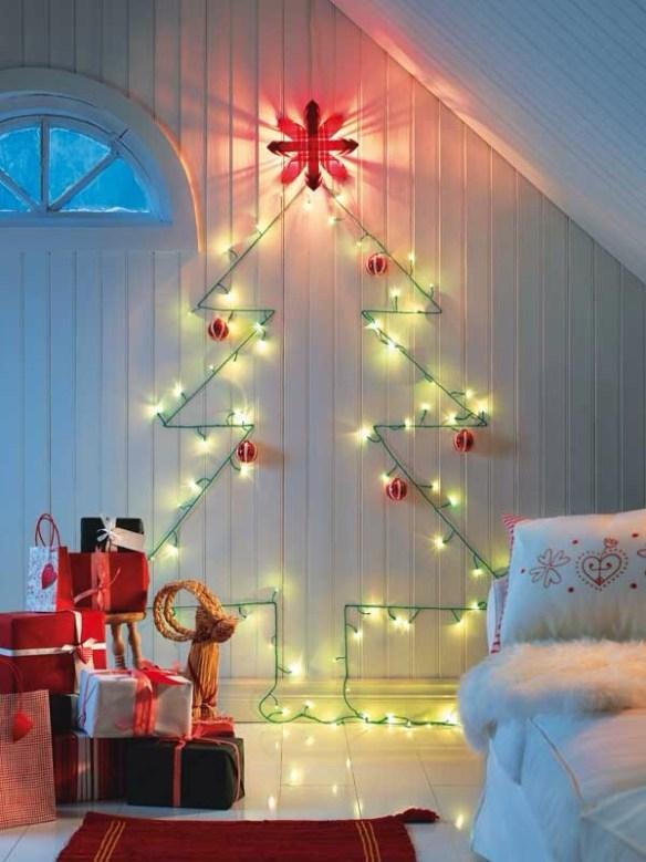 Juletre på vegg