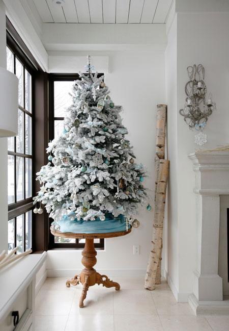 hvitt juletre