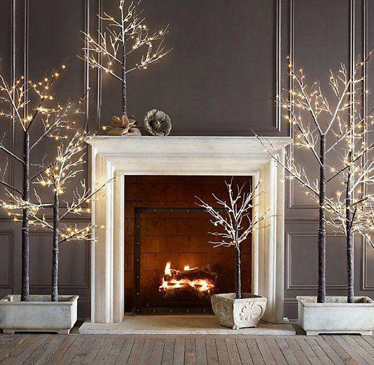 juletrær peis