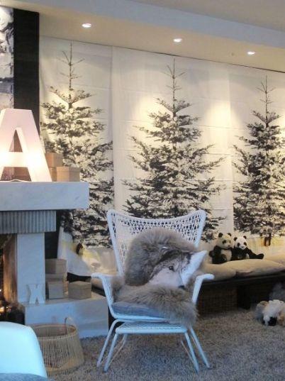 juletre vegg ikea med snø