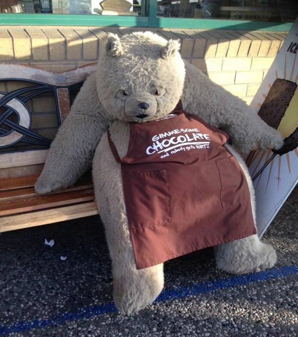 Sjokoladeglad bjørn