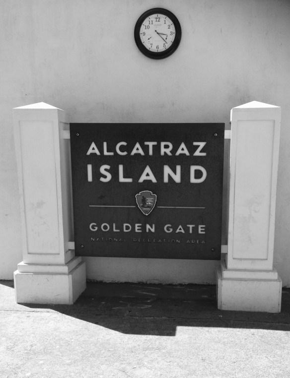 Velkomst skilt Alcatraz