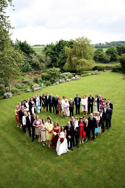 foto bryllupsgjester hjerteform