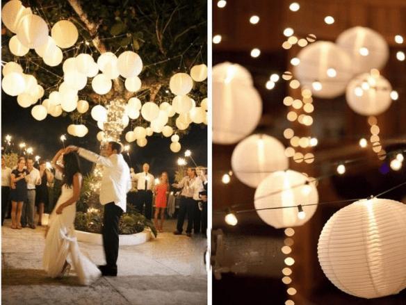 hvite papirlanterner bryllup woweffekt
