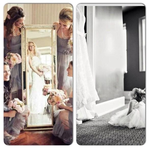tips foto brud brudepiker speil